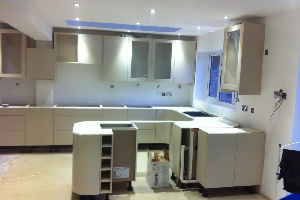 Kitchen fitter Guildford Installation in progress