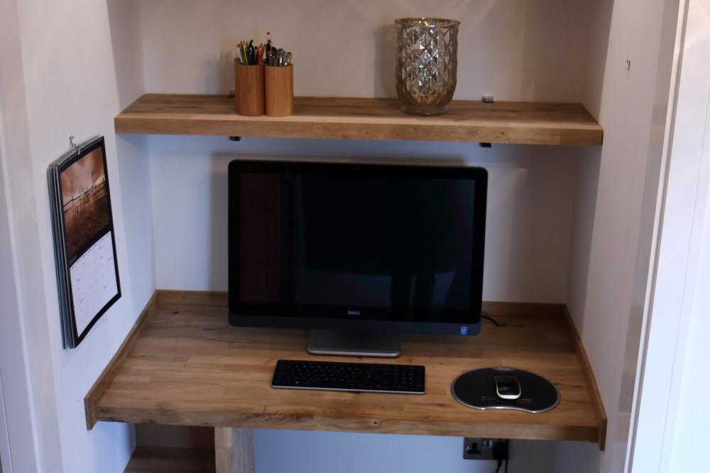 Bespoke solid oak desk Carpenter Guildford