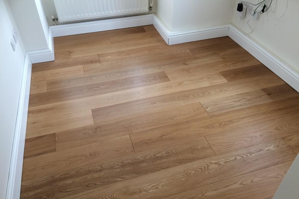 Installation of wooden flooring